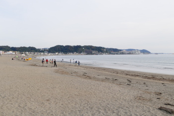 Overlook of Yuigahama Beach.