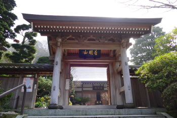 Gate and main building of Jojuin Temple.