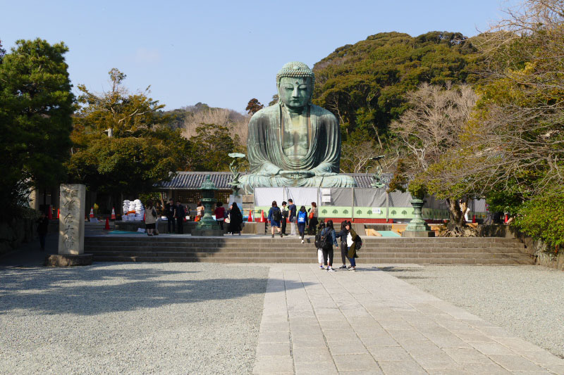 Great Buddha statue of Kamakura.