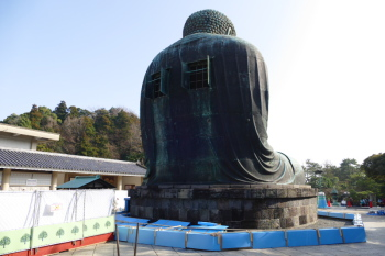 The back of great Buddha statue.