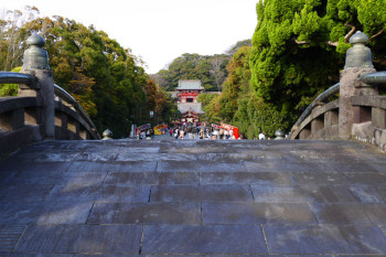 View from Taiko-bashi bridge in the shrine.
