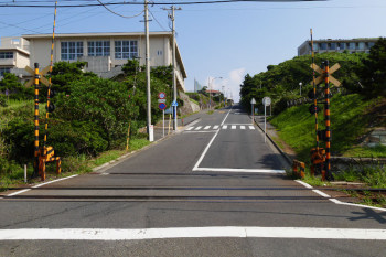 The entrance of long slope in Shichirigahama.