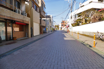 The road in front of Shonan-Enoshima Station.