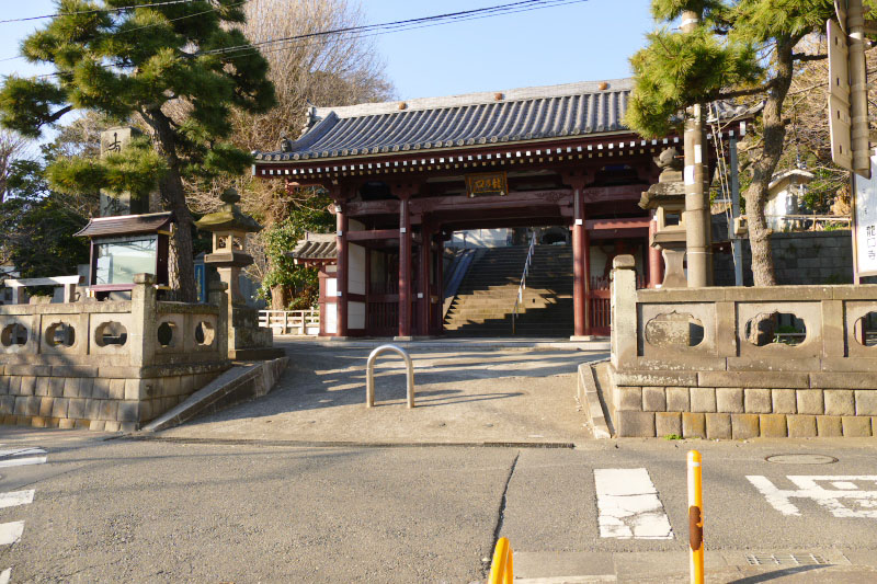 The Entrance of Ryukoji Temple in Katase Town.