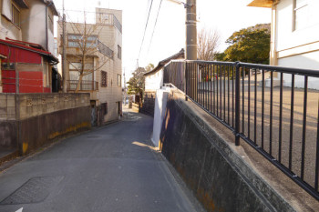 The road near Ryukoji Temple also appeared in several anime works.