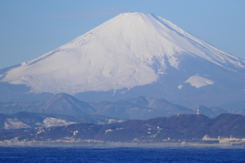 Seeing Mt.Fuji on early morning in winter.