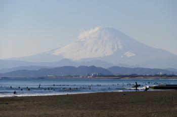 Mt.Fuji in cloudy afternoon.