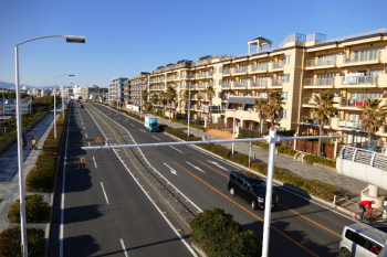 Stylish residential area in Katase Town.
