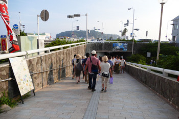 Entrance of underpass to island