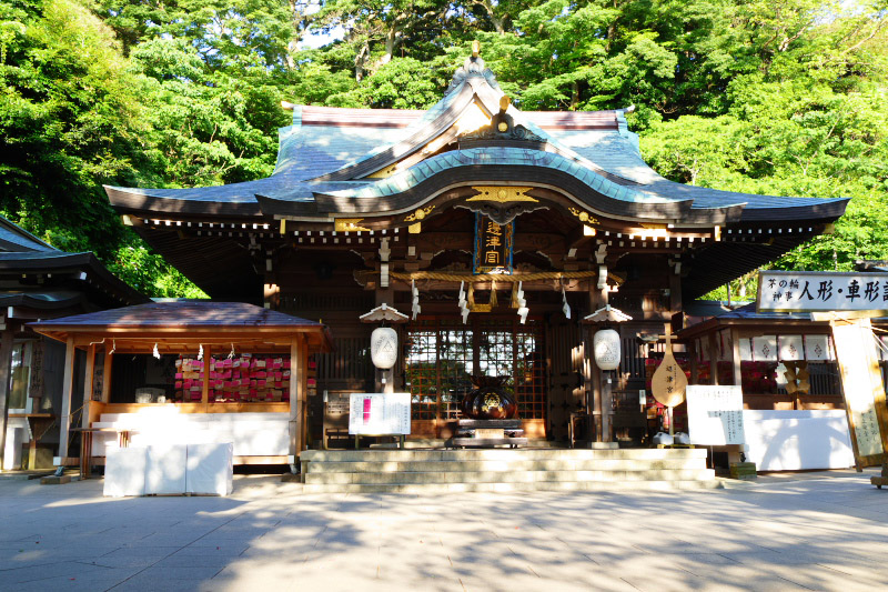 The Main Shrine Of Enoshima Jinja Shrines Became A Location Site Anime Work
