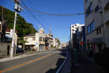 The main road of Katase Town appeared on some anime.